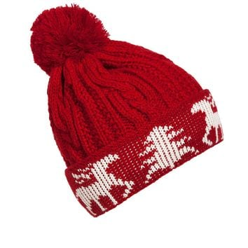 Streetstyle  Casual Christmas Winter Bobble Beanie Hat