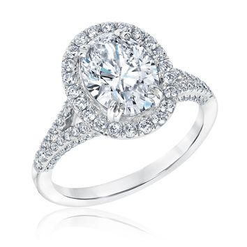 Forevermark Oval Diamond Halo Engagement Ring 2 5/8ctw