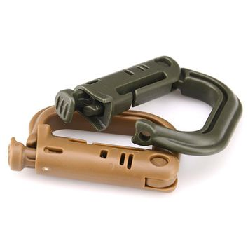 New Outdoor Climbing Tools Carabiners & Quickdraws D Locking Ring Plastic Clip Snap Type Ring Buckle Packpack Fast buckle