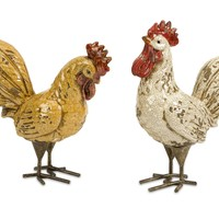 Amazing Styled Parson Roosters - Set of 2