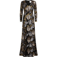 Ports 1961 Floral Sequin Gown