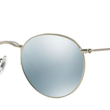 RAY BAN RB 3447 SILVER WITH SILVER FLASH MIRROR LENSES