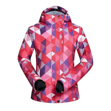2018 New Ski Jacket Women Winter Warm Thicken Waterproof Outdoor Sports Snow Snowboard Jacket Skiing and Snowboarding Clothes