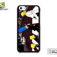 The Simpsons On The Street iPhone 5c Case Cover by Avallen