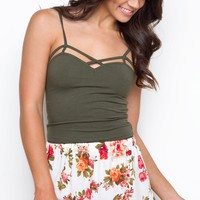 Oh Darling Floral Shorts - White