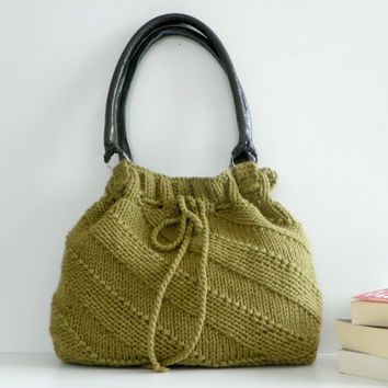 SALE OFF 15 NzLbags Green Mold Knit Bag Handbag by NzLbags