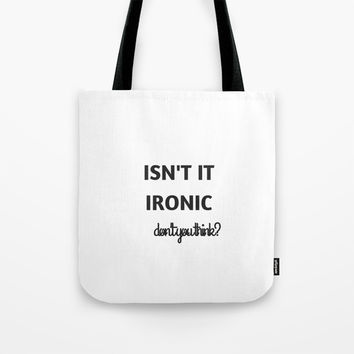 IRONIC Tote Bag by Love from Sophie