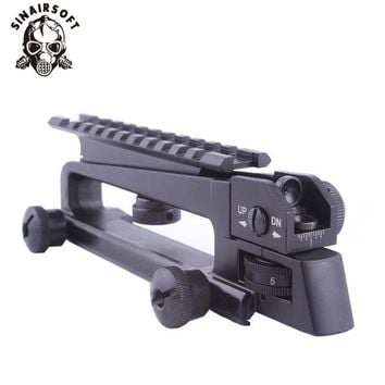 AR15 Metal Detachable Black Carry Handle Dual Apertures A2 Rear Sight and Picatinny Rail Combo Mount For M4 M16 hunting parts