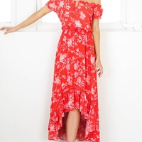 Salsa Salsa maxi dress in red floral Produced By SHOWPO
