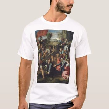 Raphael's Christ Falling on the Way to Calvary T-Shirt