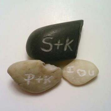 Personalized Rocks, Engraved Stones, ONE Custom Rock, Custom Stone