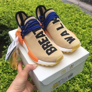 DCC3W Adidas NMD Human Race Pharrell Williams Pale Nude Sport Running Shoes Classic Casual Shoes Sneakers