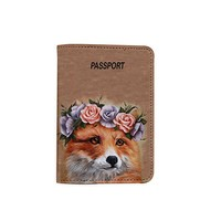 Floral Fox Customized Cute Leather Passport Holder - Passport Covers - Passport Wallet_SUPERTRAMPshop