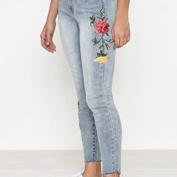 PacSun Subtle Acid Embroidered Perfect Fit Jeggings at PacSun.com