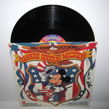 Vinyl Record Album Disney's Yankee Doodle Mickey LP 1980 Children's Classics Molly Ringwald