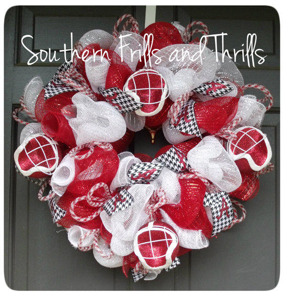 University Of Alabama Deco Mesh Wreath From Southernthrills On