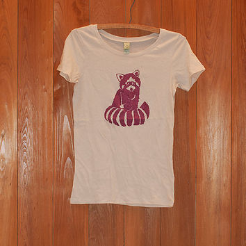 SALE tshirt, red panda shirt, yoga tee, size small