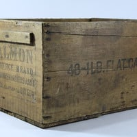 Vintage Wood Crate / Wood Box / Industrial