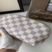 HCXX 19Aug 826 Louis Vuitton LV M47515 Mini Fashion Pouch Bag Clutch Bag 17-12-6cm White Blue