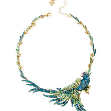 Betsey Johnson Pavé Bird Statement Necklace | Dillards