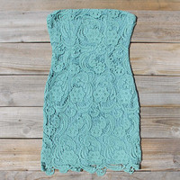 Wild Horses Lace Dress in Sage