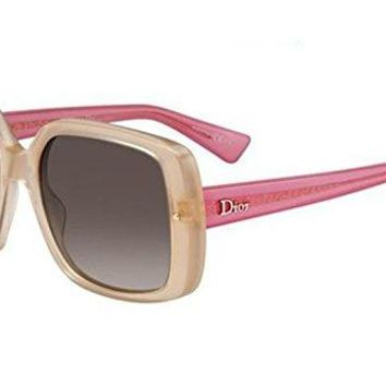 Christian Dior Womens DiorJupon2 3LHHA Beige Sunglasses