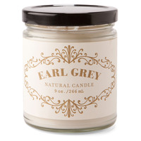 9 oz. Apothecary Candle, Earl Grey, Filled Candles