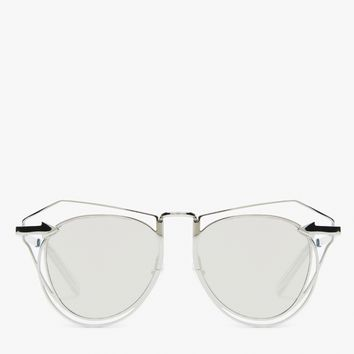 Karen Walker / Marguerite in Silver/Clear