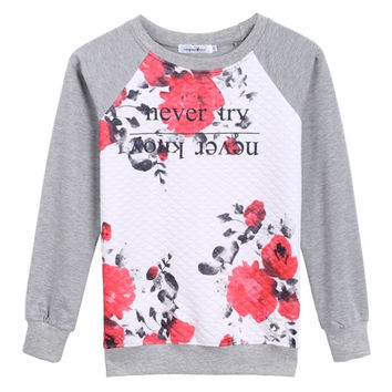 Autumn Winter Fashion Stylish Ladies Women Casual Long Sleeve O-neck Top Hoodie Blouse = 1838452804