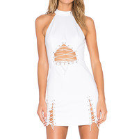 NBD x REVOLVE Laced Up Dress in White