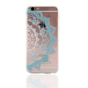 Lace Datura Flower Case for iPhone 6s 7 7Plus iPhone X 8 Plus & Gift Box