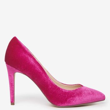 Magenta Velvet 'EVIE' Court Shoes | Dorothyperkins