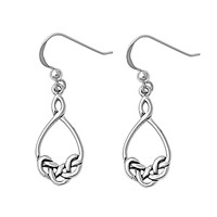 Sterling Silver Wicca Witchcraft Binding Dangle Earrings