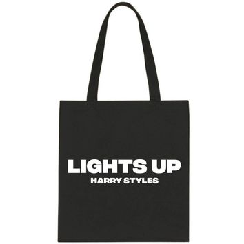 """Harry Styles """"Lights Up"""" Tote Bag"""