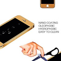 Glass Screen Protector for Apple iPhone 5S (Gold) © enKo Products