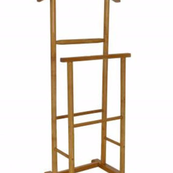 The Urban Port Antiqued Double Men Suit Valet Stand With Suit Hanger By Urban Port