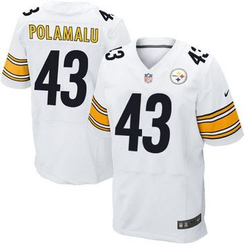 Men's Pittsburgh Steelers Troy Polamalu Nike Black Team Color Limited Jersey