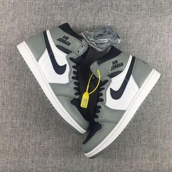 NIKE   AIR JORDAN 1 RETRO HIGH OG GREY WHITE