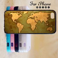 World Map,Map,iPhone 5 case,iPhone 5C Case,iPhone 5S Case, Phone case,iPhone 4 Case, iPhone 4S Case,Case