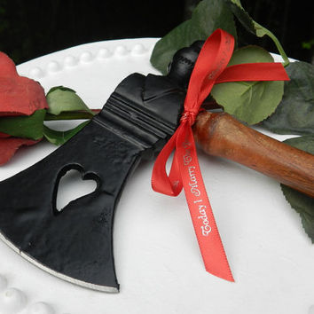 Fireman Firefighter Wedding HEART ax cake cutter Marry Bravest