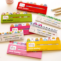Kawaii Japanese Post It scrapbooking Scrapbook Stickers Sticky Notes School Office Supplies Stationery Page Flags For Kids