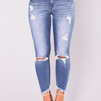 Grecia Skinny Jeans - Medium Denim