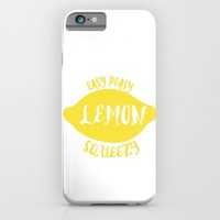 easy peasy lemon squeezy iPhone & iPod Case by Studiomarshallarts