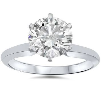 1 1/2 Carat Diamond Round Solitaire Engagement Ring