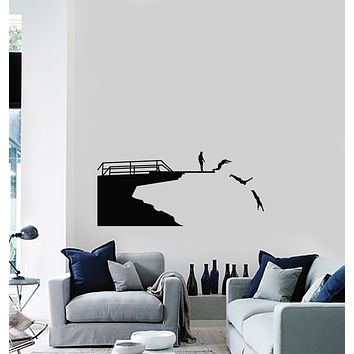 Vinyl Wall Decal Diving Swimmers Water Decor Sport Stickers Mural (g223)