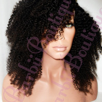 NIGERIAN Afro Kinky Curl Virgin Weft Hair * 100g Bundles * Easy To Blend With Natural Hair ** Human Hair ** U Part Wig Hair
