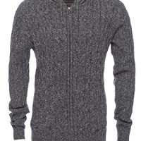 Cable Knit Zip Hoodie