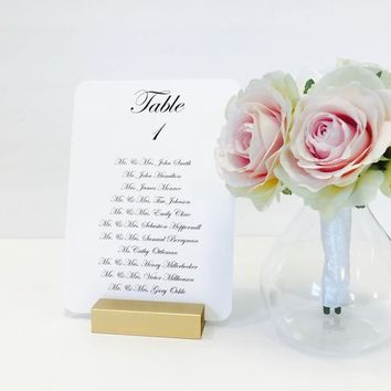 Table Number Holder, 3 inch, Set of 10, For Weddings, Restaurants, Banquets, GOLD, by Gallery360Designs