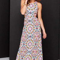 Billabong Hold On Me Multi Print Maxi Dress