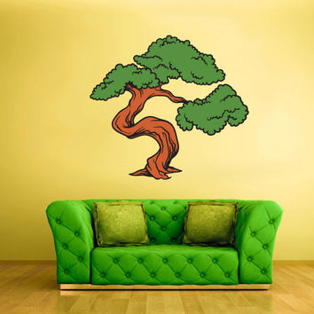 Full Color Wall Decal Mural Sticker Art Asian Japan Japanese Tree Branch Bonsai (col196)